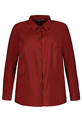 Unie 714168 Henn Ulla Longues V Femme Tops Hauts Femme Manches Boutons Popken Casual Blouse Tailles Col Grandes Shirt Chemise fwqXTBw