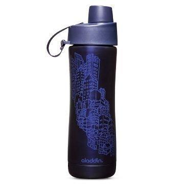 Aladdin Twist & Sip Vacuum Water Bottle 16 oz. - Blue Cityscape