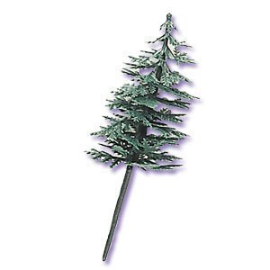 Evergreen Trees for Cake and Cupcake Decorating (24-Pack) (Plastic Topper Tree)
