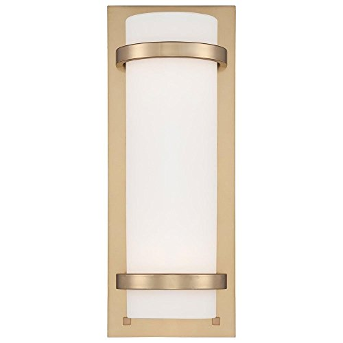 Minka Lavery 341-248 2-Light Wall Sconce in Honey Gold w/Etched Opal - Light Vanity Court 4