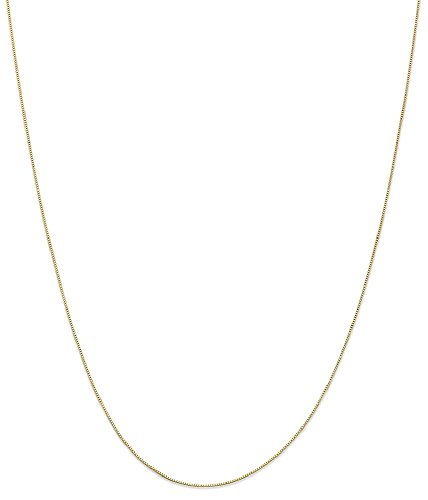 ICE CARATS 14k Yellow Gold .5 Mm Baby Box Chain Fine Jewelry Gift Set For Women Heart by ICE CARATS