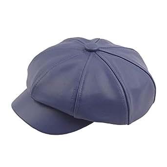 XIANGBAO-Hat Simple Retro Beret Cap Autumn Winter Wool