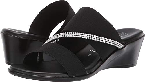ITALIAN Shoemakers Women's, Maryam Sandals Black 9.5 ()