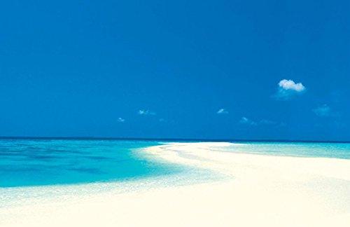 (Culturenik White Sandy Beach Decorative Tropical Scenic Travel Photography Framed Print (Unframed 24 x 36 Poster))