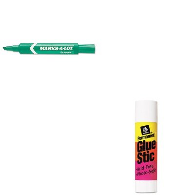 KITAVE00166AVE07885 - Value Kit - Marks-a-lot Permanent Marker (AVE07885) and Avery Permanent Glue Stics (AVE00166) - Ave00166 Permanent Glue
