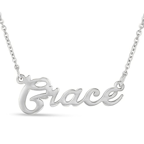 Grace Nameplate Necklace In Silver Tone ()