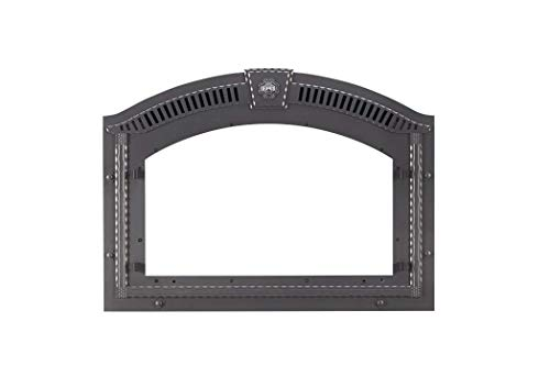 WOLF STEEL FPWI-1 Napoleon Fpwi-1 Arched Faceplate with Upper Grill & Keystone, Wrought Iron, Plastic, 7.5