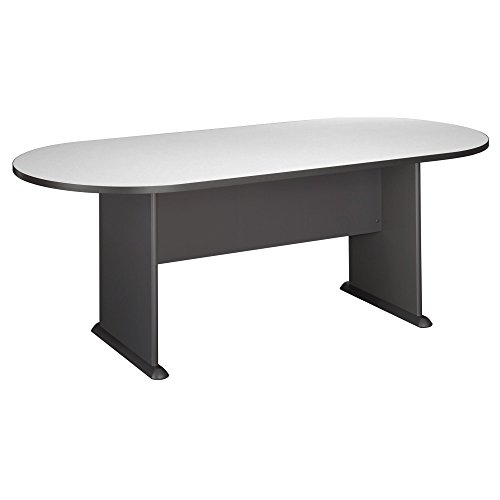 Conference Table Office Table - Bush Business Furniture Series C 82W x 35D Racetrack Conference Table, Slate with Graphite Gray