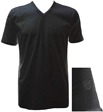 """261 T-shirt in filo di scozia GICIPI uomo scollo a /""""V/"""" art"""
