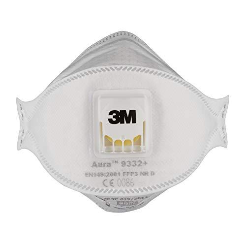 3m Tools uk Diy amp; Folded co White Amazon Valve Mask 9332pp
