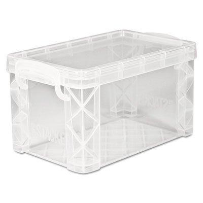 Advantus - Super Stacker Storage Boxes, Hold 400 3 x 5 Cards, Plastic, Clear 40307 (DMi EA