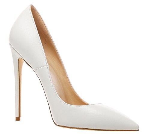 Zapatos de de Weiß Pu Mujer Vestir AOOAR AP09N para Sintético RCnxSSw