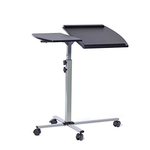 Height Adjustable Laptop Desk - Techni Mobili RTA-B003-GPH06 Rolling Adjustable Laptop Cart, Graphite