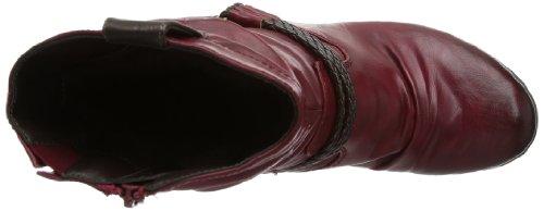 Rieker 91589 Damen Halbschaft Stiefel Rot (vino/testadimoro/schoko 35)