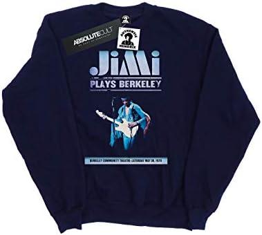 Absolute Cult Jimi Hendrix Damen Plays Berkeley Sweatshirt Navy Blau Large