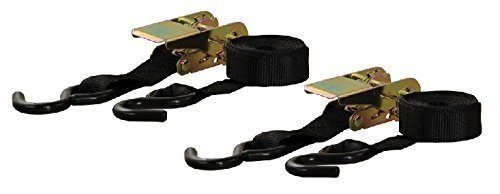 Curt Manufacturing Cargo Ratchet Straps Black 1inx10ft 2 Pack by CURT