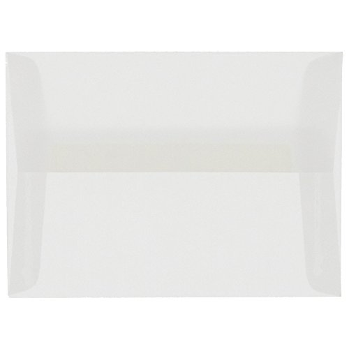 JAM PAPER A9 Translucent Vellum Invitation Envelopes - 5 3/4 x 8 3/4 - Clear - - Shower Vellum Baby Invitations