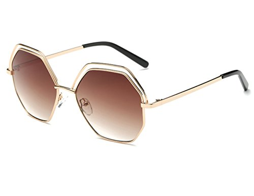 Konalla Polygon lenses Sunglasses Geometric Cutouts Women's Eyewear - Angeles In Macy Los