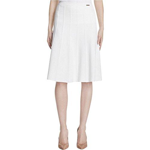 Michael Michael Kors Womens Textured Knit A-Line Skirt White S