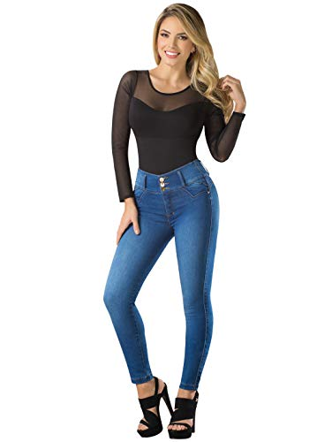 LT.ROSE by Draxy Women Hot High Waist Lifting Jeans | Jeans Colombianos Blue 5 (Best Jeans For No Butt)