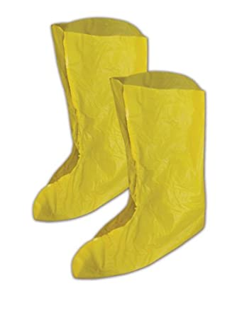 "Magid SC1815 EconoWear PVC Disposable Shoe Cover, 12"" Length, Yellow (Case of 240 Pairs)"