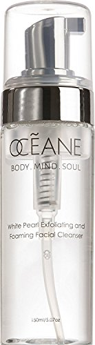 OCEANE Beauty White Pearl Exfoliating And Foaming Cleanser, Improve Skin Firmness, Texture, and Elasticity, Luxurious Makeup Remover and Deep Clean Pores OC6