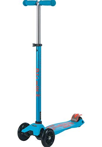 Micro Maxi Deluxe 3-Wheeled, Lean-to-Steer, Swiss-Designed Micro Scooter for Kids, Ages 5-12 - Caribbean Blue