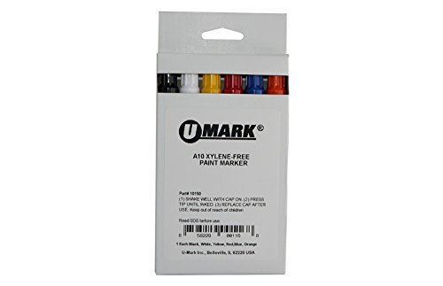 U-Mark 10150 A10 Color Assortment Paint Marker Set by U-Mark