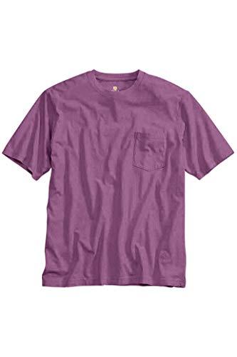 Territory Ahead Men's Soft Cotton T-Shirt with Pocket | Short Sleeve Crewneck Purple -