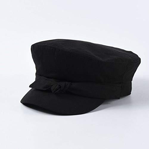 ZYKIMYONG Newsboy Caps Cute Bowknot Solid Color Caps Flat Top Caps