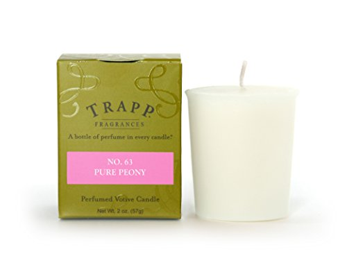 - Trapp Signature Home Collection No. 63 Pure Peony Votive Scented Candle, Pack of 4