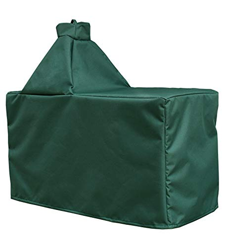 Mini Lustrous Cover for Large Big Green Egg, Large Ceramic Egg Type Kamado Table Cover with Heavy Duty and Waterproof Fabric, Large (Egg Grill Green Big Small)