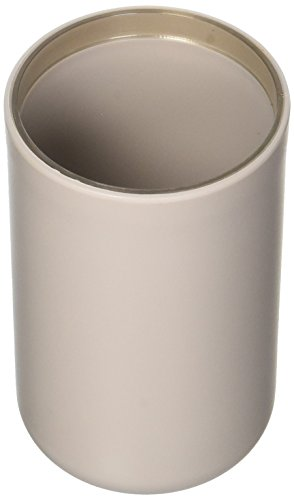 EVIDECO Vanity Bathroom Tumbler Soft Touch Design Taupe, (Touch Soft Tumbler)