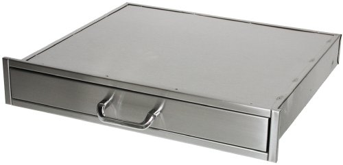 Solaire Single Deep Utility Drawer for Built-in Islands, Stainless Steel Built In Stainless Access Drawers
