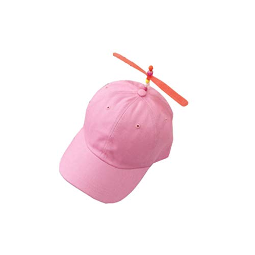 ONSEXBXM Adult Kids Helicopter Propeller Baseball Cap Colorful Patchwork Caps Hat Children Boys Girls Snapback Dad Hat Pink Adult]()