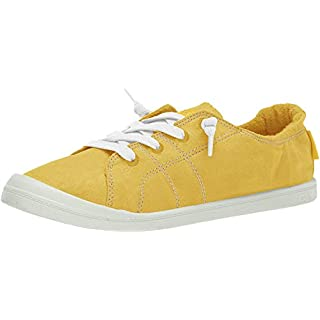 Roxy Women's Bayshore Slip on Shoe Sneaker, Yellow/Yellow, 9 M US