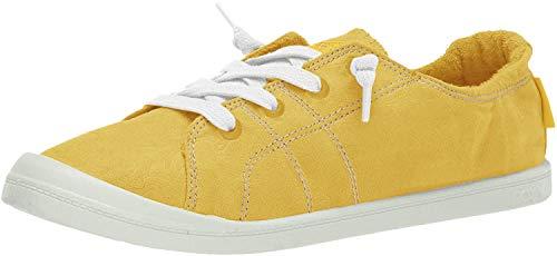 Roxy Women's Bayshore Slip on Shoe Sneaker, Yellow/Yellow, 9 M US