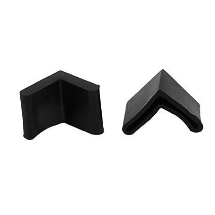 Amazon.com: eDealMax de goma en Forma de L Muebles Mesa pata de la ...