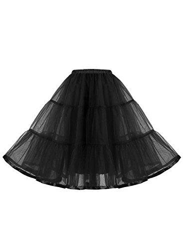 Find Dress Damen 50er Jahre Petticoat Vintage Reifrock Organza 1950 Underskirt Elastic Bund Unterrock