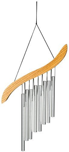 Woodstock Percussion EHS Emperor Harp Windchime Color: Silver Size: Small-8 Tubes Outdoor, Home, Garden, Supply, Maintenance