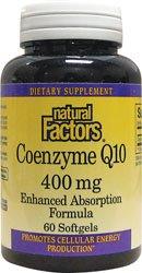Natural Factors Coenzyme Q10 gélules de 400 mg, 60-Count