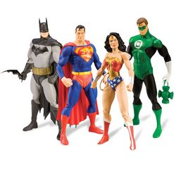 Justice: Action Figures Collector Box Set of 4 + Issue #1 (Alex Ross Action Figures)