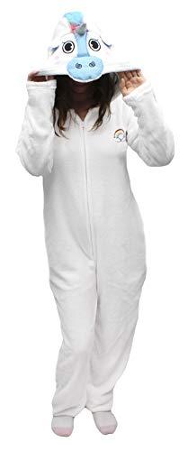 Body Candy Women's Plush Adult Animal Hood Onesie Pajama (White Unicorn, X-Large)]()