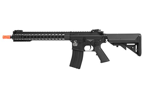 Soft Air COLT KeyMod Automatic Electric Airsoft Gun, Black, Long