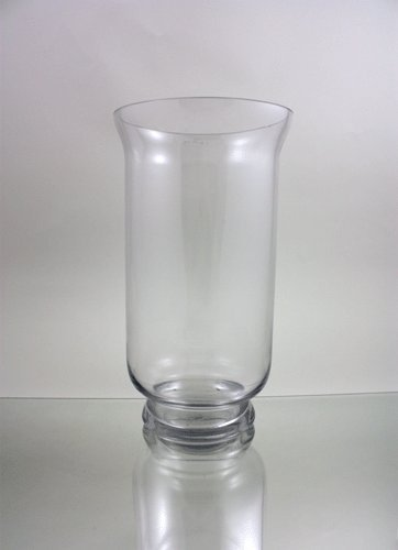 WGV Clear Hurricane Glass Vase/Candle Holder, 15-Inch