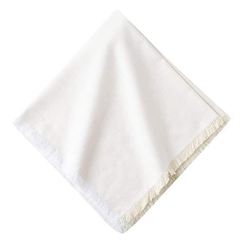Juliska Essex Chambray Whitewash (White) 100% Cotton Dinner Napkins - Set of 4-20