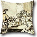 Pillow Cases 16 X 16 Inches / 40 By 40 Cm(2 Sides) Nice Choice For Car,lounge,bf,home Office,dance Room,relatives Oil Painting Jean-Baptiste Greuze - Savoyard With A Dancing Doll ()