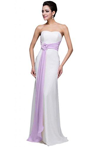 sunvary gasa larga modesto Mujeres Dama de honor vestidos de noche fiesta Lilac