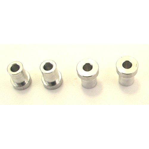 (Hot Racing TDB353 3mm Offset Aluminum 5.4mm Straight Shock Bushings)