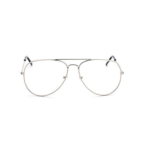 Gray and Film Silver Frame Gafas clásicas Black de Color Gafas Box Moda Black Sol de Sol Sol Trend de Hombres Gafas de para Sunglasses HBxgR11